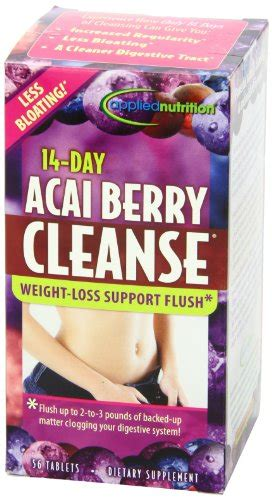 Smokers Detox 7 Reviews by Applied Nutrition 14 Day Acai Berry Cleanse 56 Count