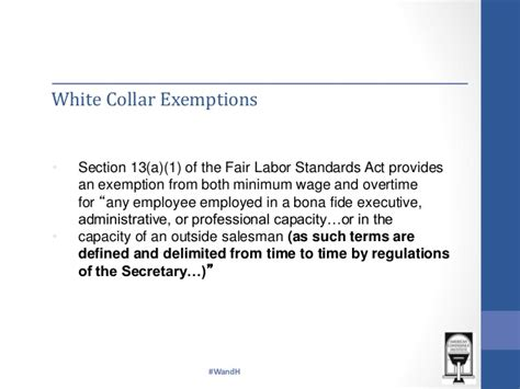 flsa section 13 a 1 section of the fair labor standards act exempt employee