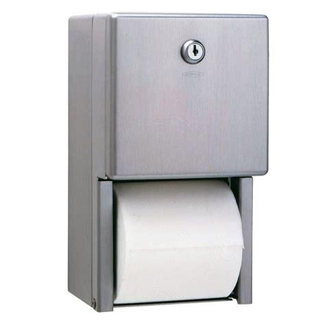 dual roll toilet tissue dispenser bobrick stainless steel dispenser dual roll tissue