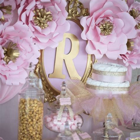 Gold Baby Shower Decorations by Shimmering Pink And Gold Baby Shower Baby Shower Ideas