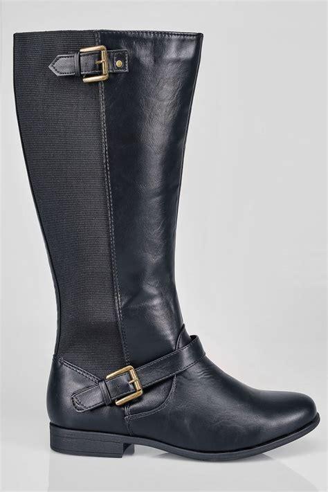 div placement bottes cavali 232 res au genoux noir avec boucle d 233 corative et