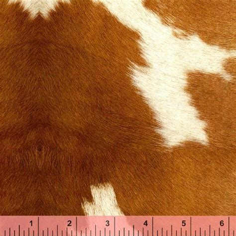 Cow Print Upholstery Fabric Retro Anna Griffin Cowhide Cow Hide Fabric Material Oop The