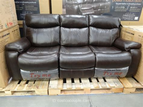 spectra home sofa costco spectra dakoda power motion leather sofa