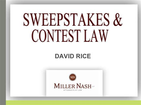 Sweepstakes And Contests - presentation on sweepstakes and contests