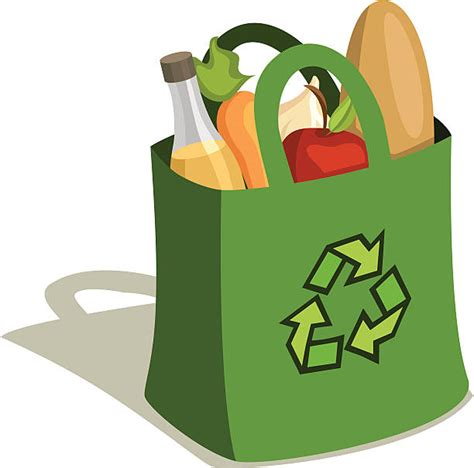 grocery bag clipart royalty free canvas tote bag clip vector images