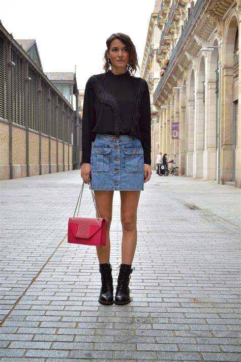 20 modern ways to style a denim skirt for stylecaster