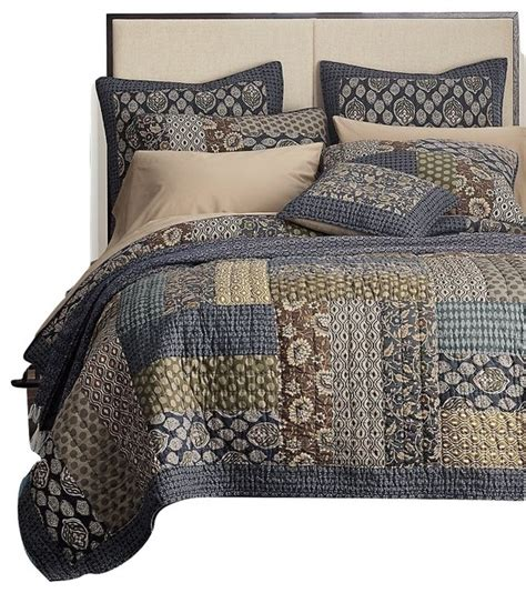 Cal King Quilt Sets by Tache 2 3 Cotton Royal Chambers Patchwork Floral