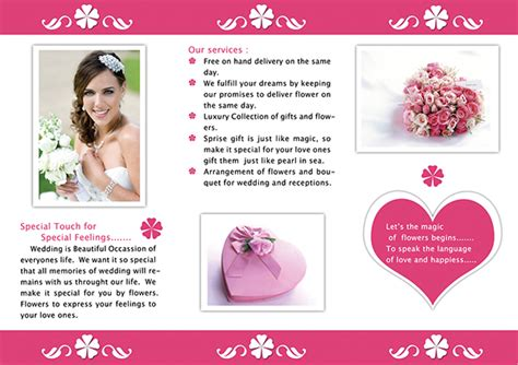 Wedding Anniversary Brochure by Flora A Complete Bouquet Collection On Behance