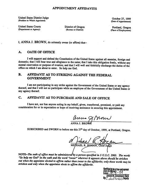 Affidavit Moral Character Sle Letter 8 Affidavit Of Character Bid Template