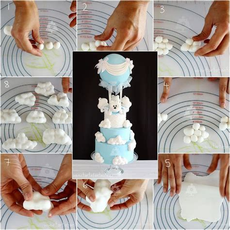 decorar cupcakes con fondant paso a paso paso a paso nubes de fondant luz maria ramos en 2018
