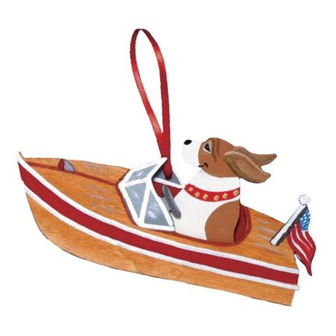 motor boat dog breed ornament non holiday designs dogs - Motor Boat Dog