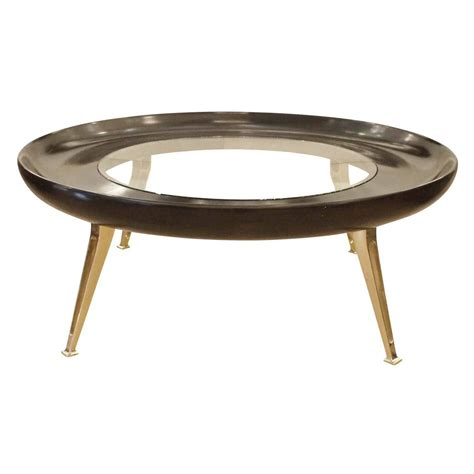 large brass and wood coffee table at 1stdibs