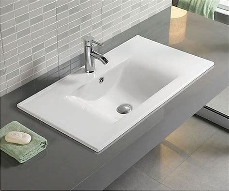 Moderne Waschbecken 75 by Keramik Eckig Schneeweiss Einbau Waschbecken Canina 60