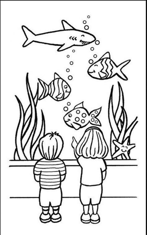 Aquarium Coloring Pages Aquarium Coloring Page