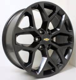Black Gm Truck Wheels New 22 Inch Chevy Black Snowflake Wheels Rims Silverado
