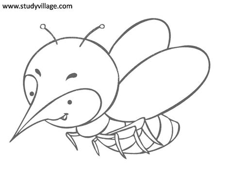 funny insects printable coloring page for kids 29
