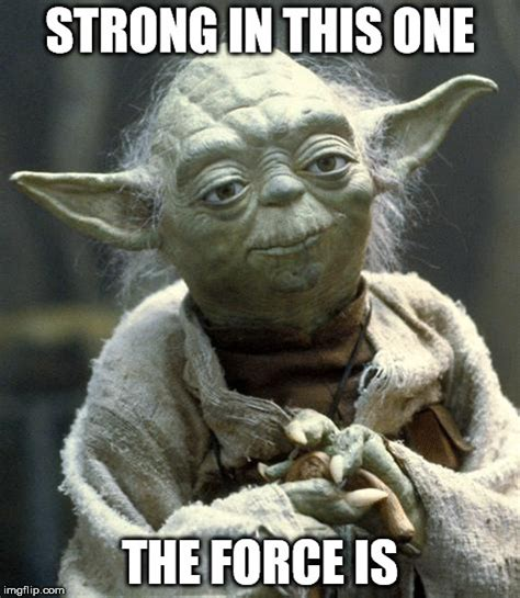 The Force Is Strong With This One Meme - yoda imgflip