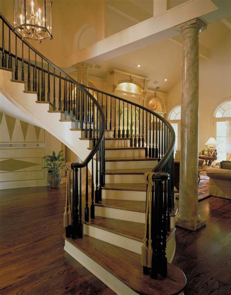 house stairs luxury curved staircase plan 020s 0004 house plans and
