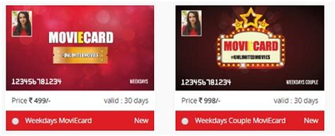 bookmyshow weekday offer carnival cinemas moviecard offer unlimited movies rs 149
