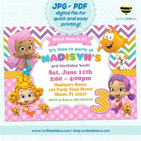 25 best ideas about bubble guppies party on pinterest bubble guppies invitations www pixshark com images
