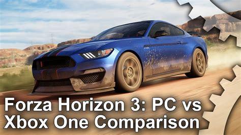 forza horizon  pc  xbox  graphics comparison