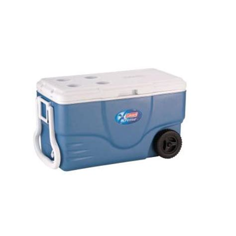 coleman xtreme 2 wheeled 62 qt cooler 6262a758 the home