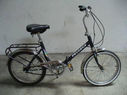 peugeot folding bike for sale 240 peugeot brand two folding bikes for sale in rancho