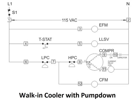 wiring diagram for a walk in freezer wiring diagram