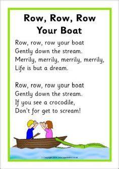 row your boat poem lyrics 1000 images about nursery rhymes on pinterest nursery
