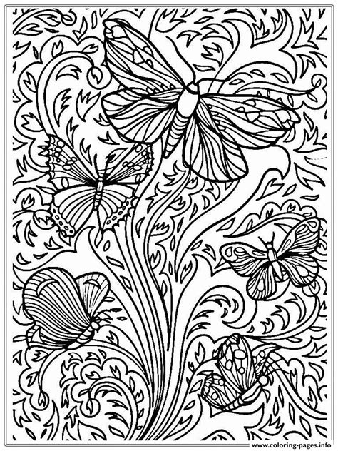 printable coloring pages for adults only coloring pages print free printable adult butterfly sheet