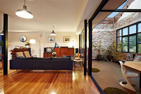 living room warehouse touch of new york loft style warehouse conversion in melbourne