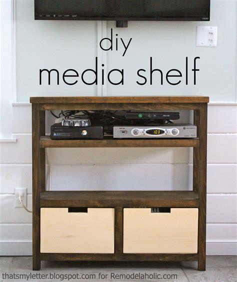 that s letter diy media shelf