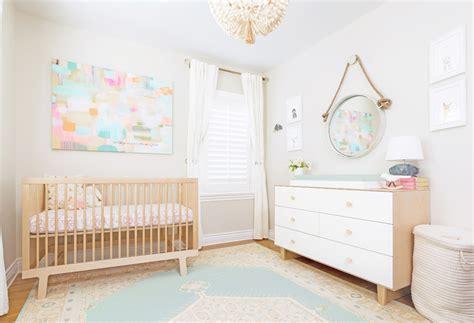 How To Decorate Nursery Room Neutral Pastel Nursery In Los Angeles Crown Interiors