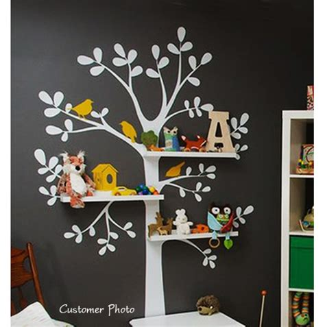 Shelving Tree Nursery Wall Decal Aftcra Tree Nursery Wall Decals