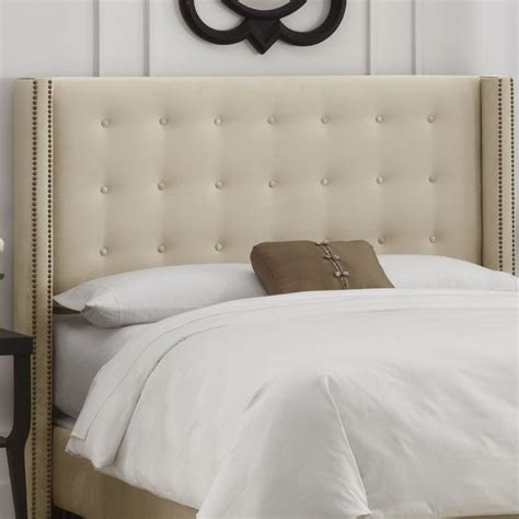 Button Tufted Headboard Still Like Tufted Skyline Furniture Button Tufted Upholstered Headboard Apartment Living
