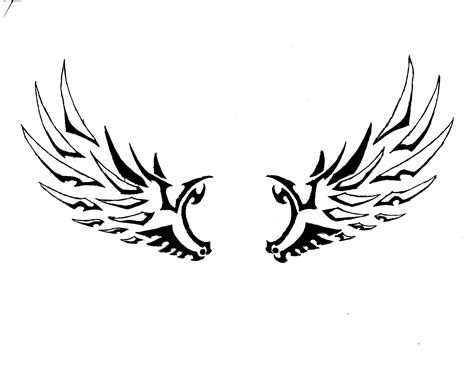 wings clipart tribal pencil and in color wings clipart