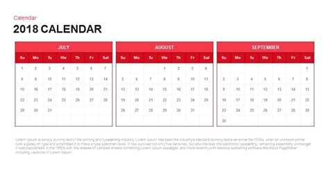 keynote calendar template 2018 calendar powerpoint and keynote template slidebazaar