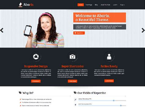 wordpress theme free company website 26 free modern business wordpress themes web graphic