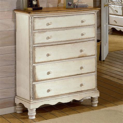 shop hillsdale furniture wilshire antique white 5 drawer