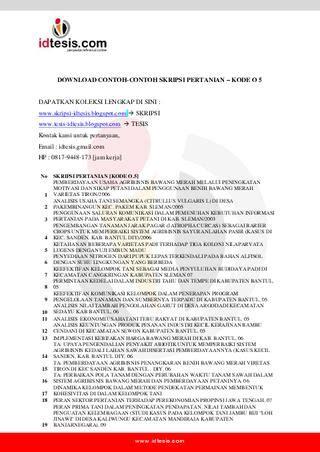 Benih Bawang Merah Di Jogja contoh skripsi pertanian kode o 5 by sanjaya jogja issuu