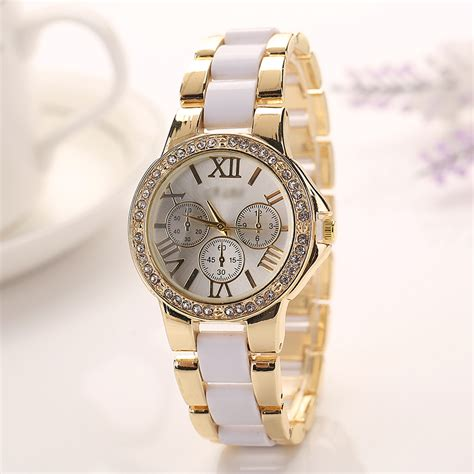newest wrist watches for girls watch accessories new fashion women girls quartz gold crystal crystal