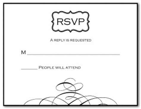 blank rsvp card template printable black and white response card template