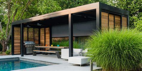 veranda vorm haus stijlvol een lamellen overkapping voor terras of tuin