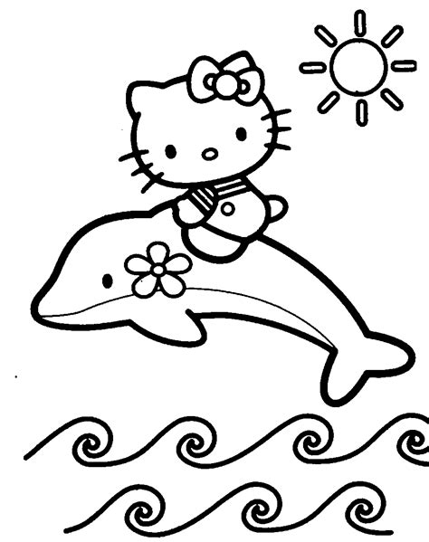 Coloring Pages Hello Kitty Dolphin | 40 hello kitty pictures which are pretty slodive