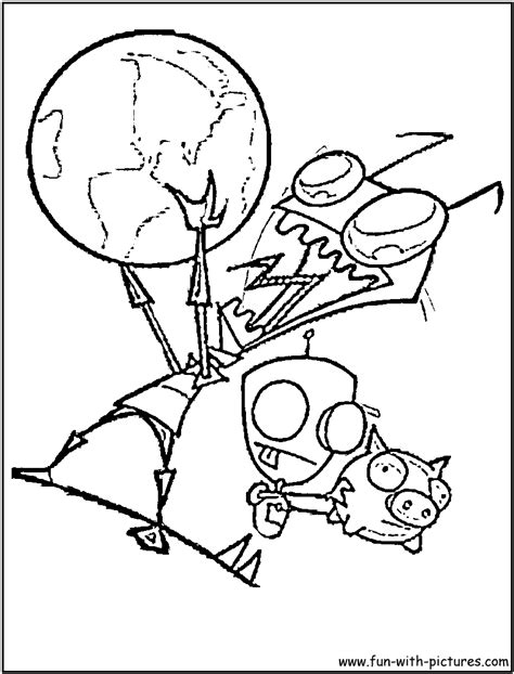 invader zim gir coloring page