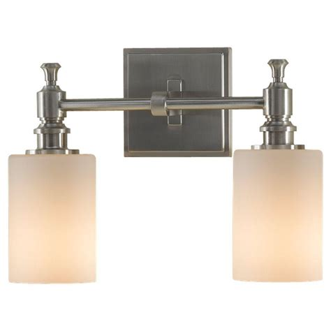 Feiss Vanity Lighting Feiss Sullivan 2 Light Brushed Steel Vanity Light Vs16102 Bs The Home Depot