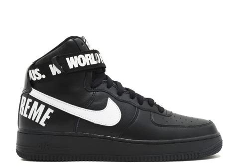 nike air 1 high supreme air 1 high supreme sp quot supreme quot black white nike