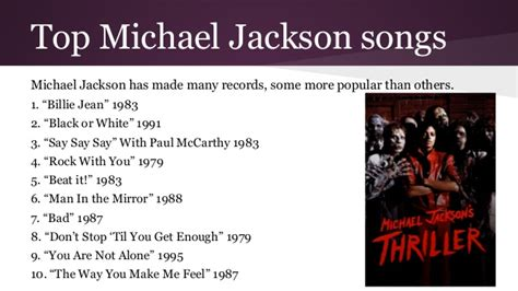 michael jackson biography powerpoint michael jackson