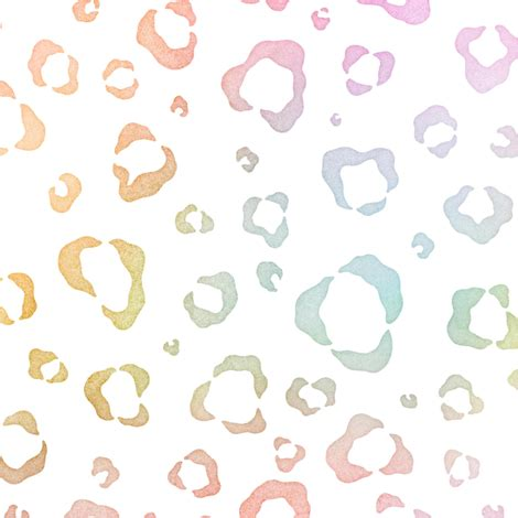 pastel pattern fabric pastel rainbow watercolor leopard pattern fabric