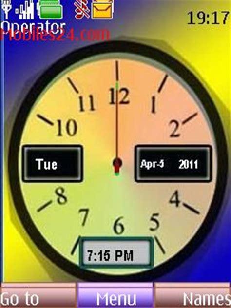 themes clock analog analog clock free nokia 6233 theme download download
